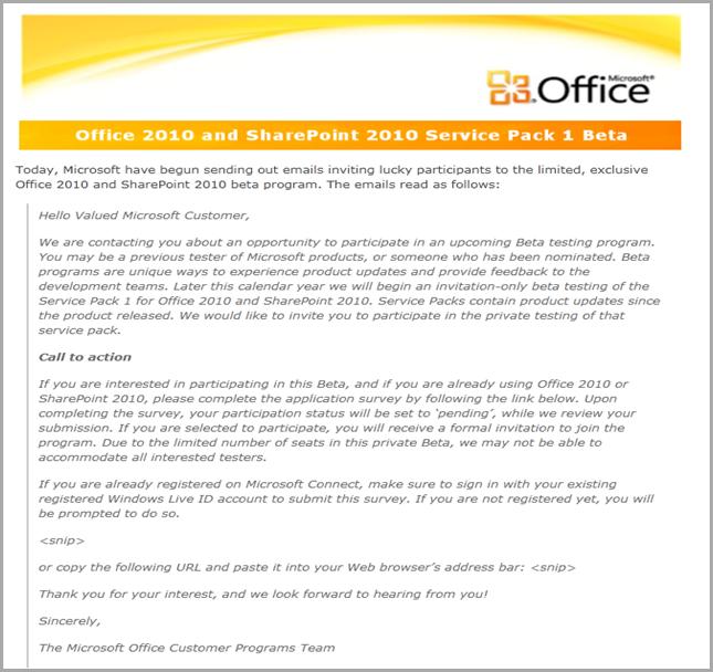 office 2010 sp1 convite
