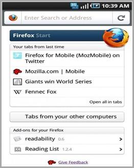 Firefox 4 RC Mobile