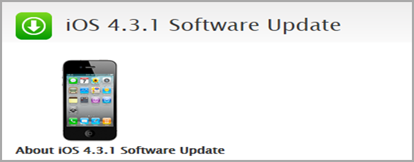 iOS 4.3.1 software update download