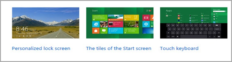 home page Previewing Windows 8
