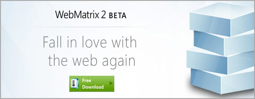 WebMatrix 2.0 beta download