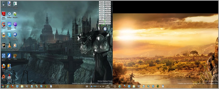 dual monitor com wallpapers individuais