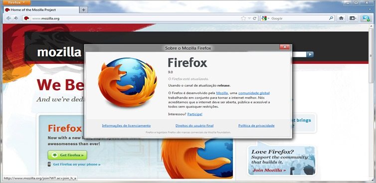 Download Firefox 9 final PT-BR