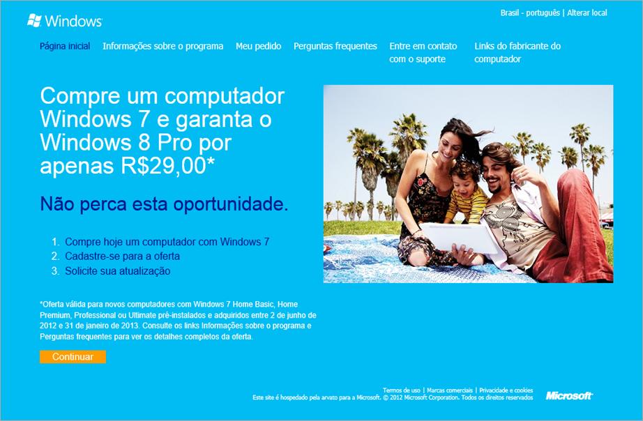 Click na Imagem Windows 8 Upgrade