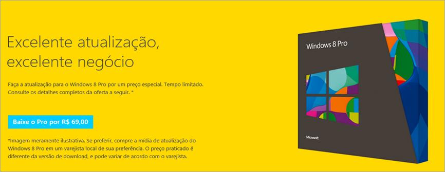 Compre e Baixe Windows 8 Pro