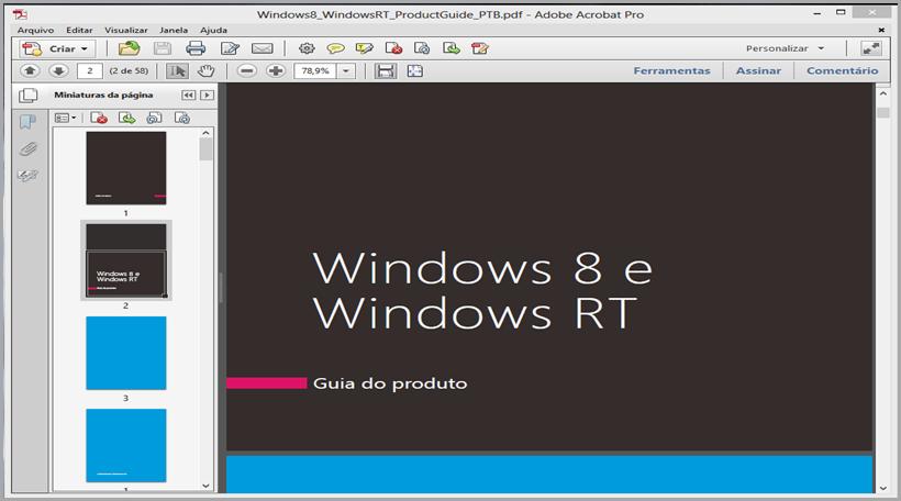 Guia de produto Windows 8