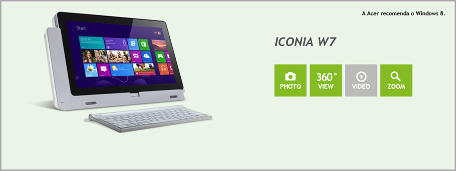 Home Page ACER ICONIA W7