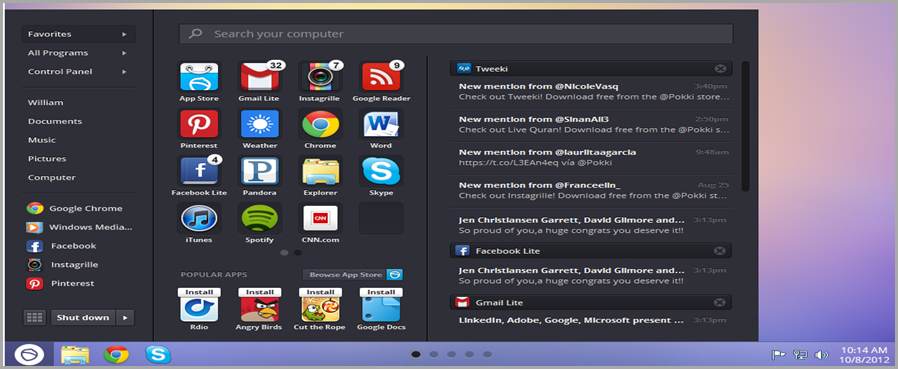 start menu para windows 8