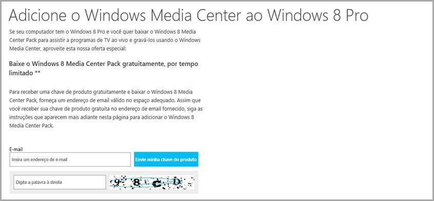 Windows 8 Media Center gratis