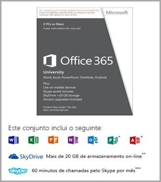 Office 2013 University Click Sobre a Imagem para Compra
