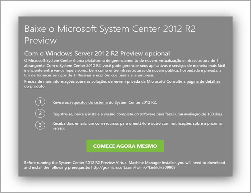 download System Center 2012 R2 preview