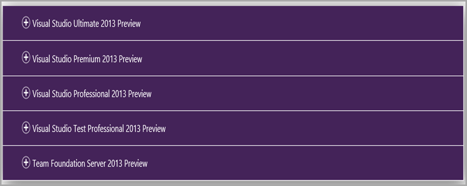 Download Visual Studio 2013 Preview