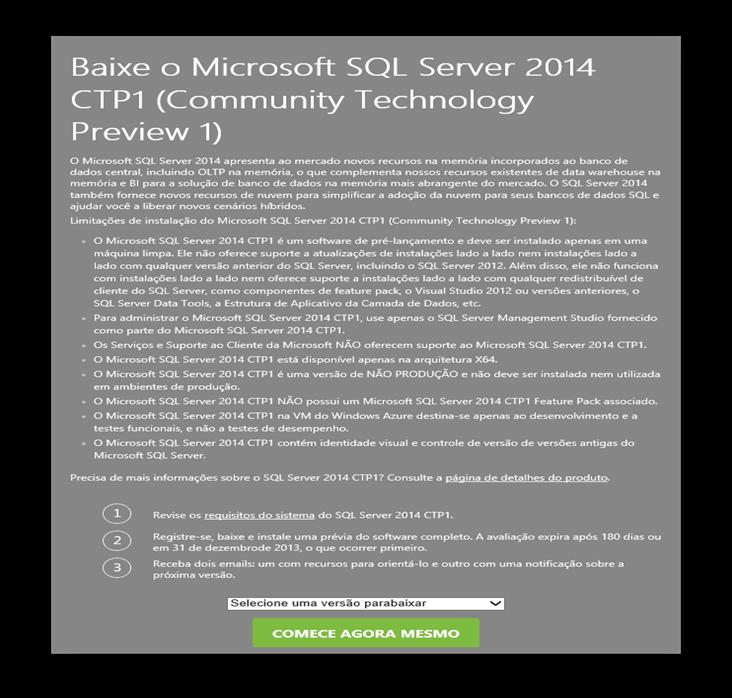 SQL Server 2014 CTP1